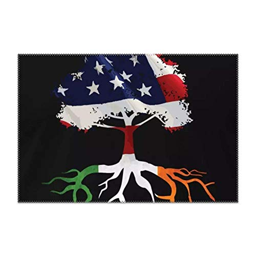 (GPUnfdvc Irish Roots American Tree Placemat for Dining Table Heat Resistant Wipeable Non-Slip 1)