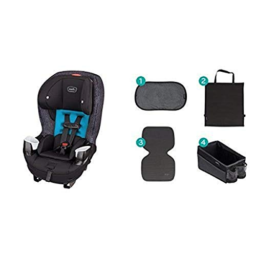 Evenflo Stratos 65 Convertible Car Seat, Glacier with Car Seat Accessory Kit