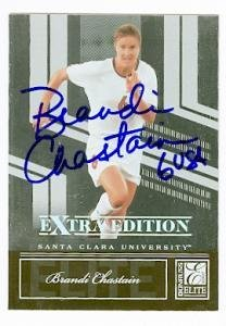 Brandi Chastain autographed Soccer Card (USA Womans Soccer) 2007 Donruss Elite #81 - Autographed Soccer Cards