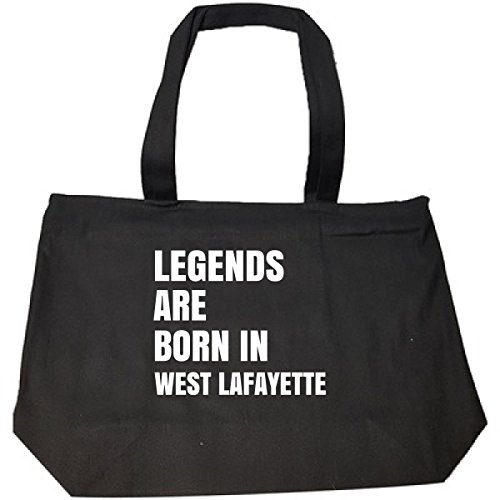 (Legends Are Born In West Lafayette Cool Gift - Tote Bag With Zip)