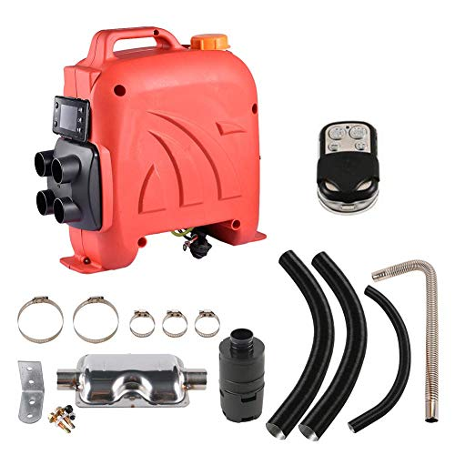 oshidede 5KW 12V 4 Holes Diesel Air Heater – LCD Air Diesel Parking Heater Kit With Silencer + Remote Control + Other…