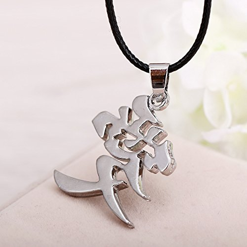 Kurop Stainless Steel Ai Love Kanji Japanese Chinese Character Necklace Pendant by Kurop (Image #5)