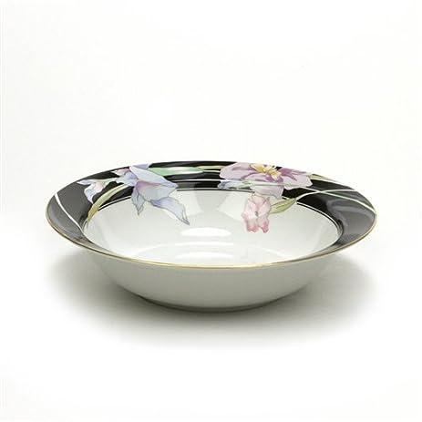 Amazon.com | Charisma Black by Mikasa, China Vegetable Bowl, Round ...