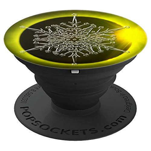 Ice Crystal On Solar Eclipse - PopSockets Grip and Stand for Phones and ()