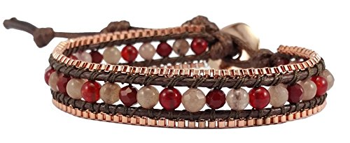 red-coral-rose-quartz-crystal-leather-wrap-bracelet-single-wrap-4mm-bead