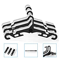 jiankun Portable Folding Clothes Hangers,Drying Rack for Family, Travel,Car and Camp