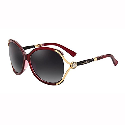 Sra C WX Gafas Diamante Anti Sol UV xin Lujoso Grande Mosaico Caja Beat Vendimia Gafas H De Street Color U4w5q4rR