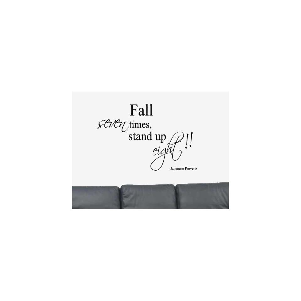 Fall Seven Times Stand Up Eight Vinyl Wall Art Decal Sticker Home Decor