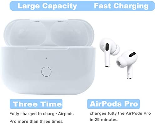 Compatible with for Wireless Air Pods Pro Charging Case Replacement, Compatible with for Air Pods Pro Charger Case with Bluetooth Pairing Sync Button