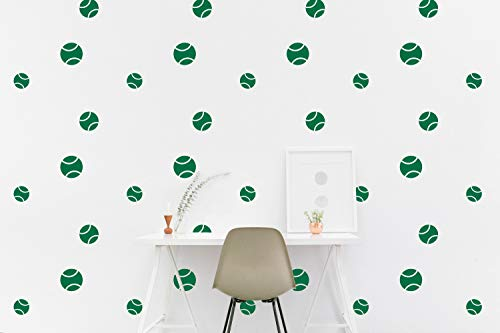 - BYRON HOYLE Tennis Ball Wall Decal Pattern Sport Kids Room Wall Sticker, Kids Bedroom, Living Room Wallpaper Vinyl Wall Decals Wall Stickers Home Decor