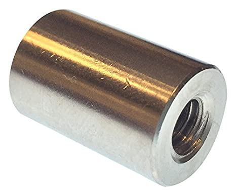 Female Zinc Plated 0.625 OD 1 Length, 10-32 Screw Size Lyn-Tron Brass Pack of 5