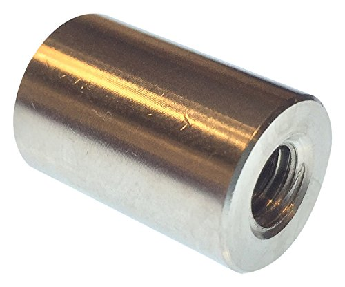 0.5 OD Female 1//4-20 Screw Size Round Standoff Stainless Steel Pack of 10 0.937 Length,
