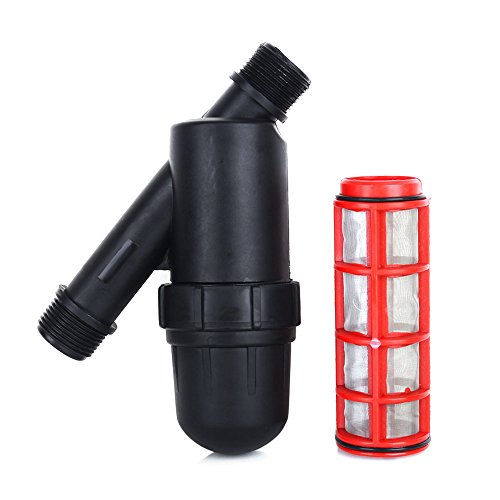 """Screen Irrigation Filter,3/4""""""""Y Style Drip Irrigation Filter with Hose Threads Screen Filter Mesh Gardening Drip Irrigation Water Tank Pool Pump for Garden Greenhouse Agricultural Drip"""