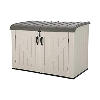 Lifetime 6x3 Low Heavy Duty Low Plastic Storage Unit Large Horizon Storae Box with Lid Outdoor.