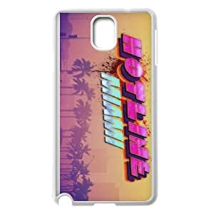Samsung Galaxy Note 3 Cell Phone Case White Hotline Miami 2 Wrong Number 14 BNY_6908170