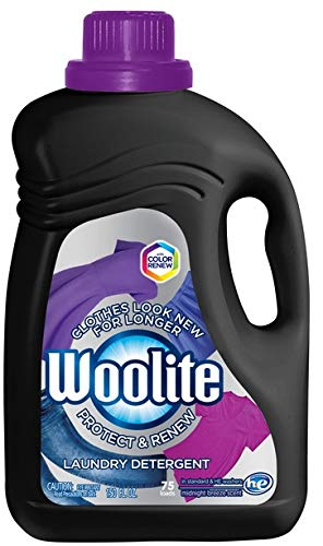 Woolite Darks Liquid Laundry Detergent, 150 Fl. Oz, 75 Loads, High Efficiency, Black