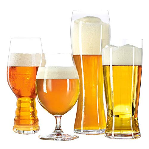 Spiegelau 4991695 Classic Tasting Kit Beer Glasses Set of 4, 4 Piece