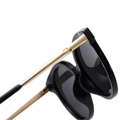Soleil Retro Lens Homme Lens Lunettes Frame De Frame Gray Soleil LBY De Gray Couleur Soleil de Black Film De Trend Soleil Lunettes Metal Color Lunettes pour Lunettes Polarisées Black X6wfqx