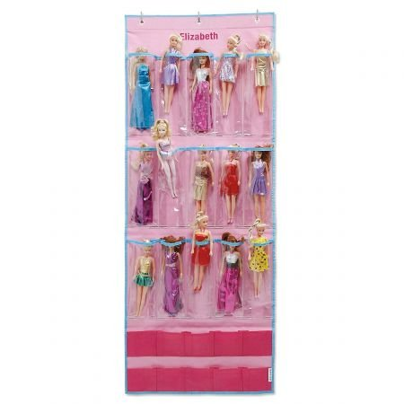 Personalized Polyester Doll Collection Organizer with 15 Pockets - 22