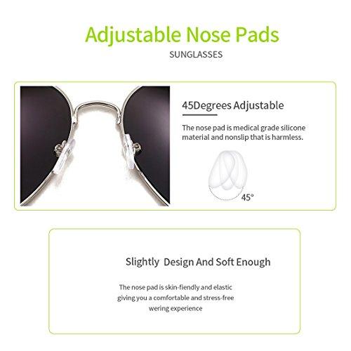 UV Hombre conducción gafas 400 sol el de 4sold Protección de con caso Aviador polarizado Blue 1PqwnSd
