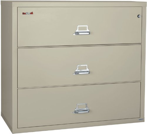 FireKing 44 Inch Wide Lateral File Cabinet 3-4422-C (3 Drawer) by FireKing
