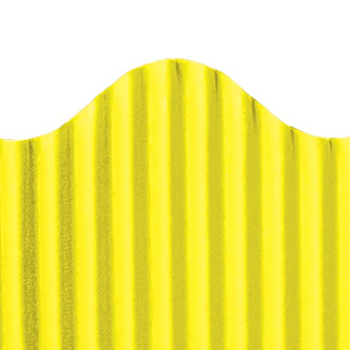 Wavy Border - Top Notch Teacher Products Corrugated Border, Yellow, 2 1/4