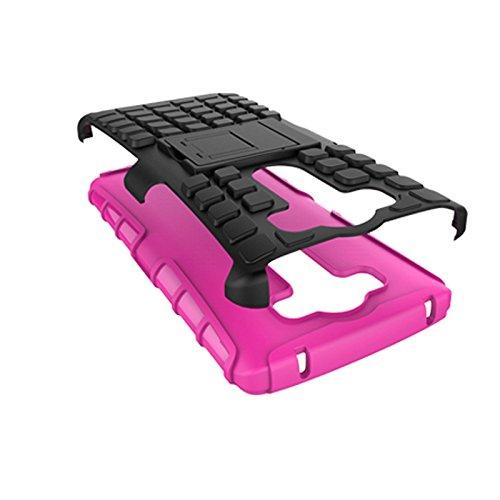 LG V10 Funda,COOLKE Duro resistente Choque Heavy Duty Case Hybrid Outdoor Cover case Bumper protección Funda Para LG V10 - naranja Rosa