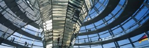 Posterazzi PPI70266S Glass Dome Reichstag Berlin Germany Poster Print, 18 x 6
