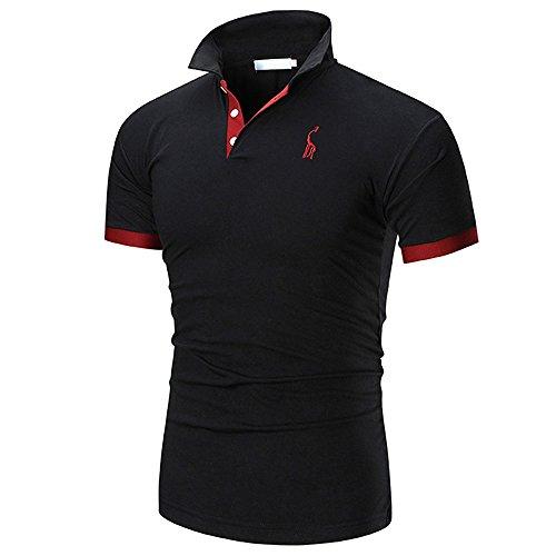 Littleice Fashion Shirts for Men,Personality Men's Lapel Cas