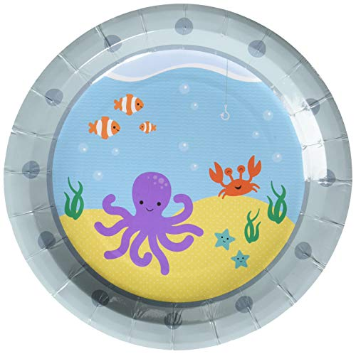 Ginger Ray Under The Sea Paper Party Plates - 8 Pack -