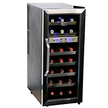 Whynter WC-215AZ 21 Bottle Dual Temperature Zone Freestanding Wine Cooler