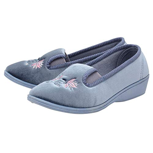 Dunlop Pantoufles Bleu Antoinette Femmes Myrtille xp8qS