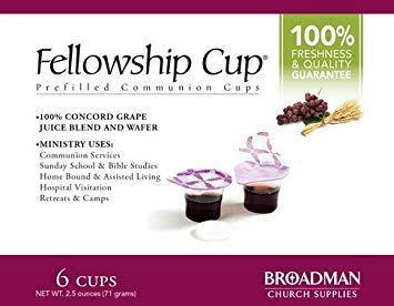 Communion - Fellowship Cup Prefilled Juice/Wafer - Box/6