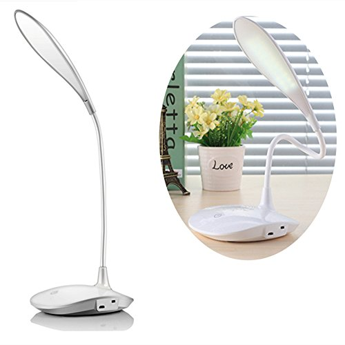 LED Desk, Lamp Portable Flexible Neck LED Light Table Lamps Dimmable Touch Eye-care 3 Level Brightness Flexible Arm Reading Lights Travel Lamp Bedroom Lamp Rechargeable Lamps by Ding yi bo ye
