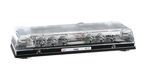 """Grote 76953 Clear 17"""" Low-Profile LED Mini Light Bar (Magnet Mount with Cigarette Lighter Adapter)"""