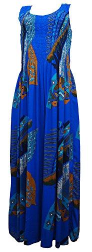 Damen mehrfarbig Leaves Ikat Kleid Kleid One Royal size Mehrfarbig dnAIxR