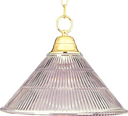 Maxim Lighting 91101 Maxim Invert Bowl Pendant Fixture, Polished Brass Finish, 15 by 11.5-Inch (Brass Pendant Bowl Polished Medium)