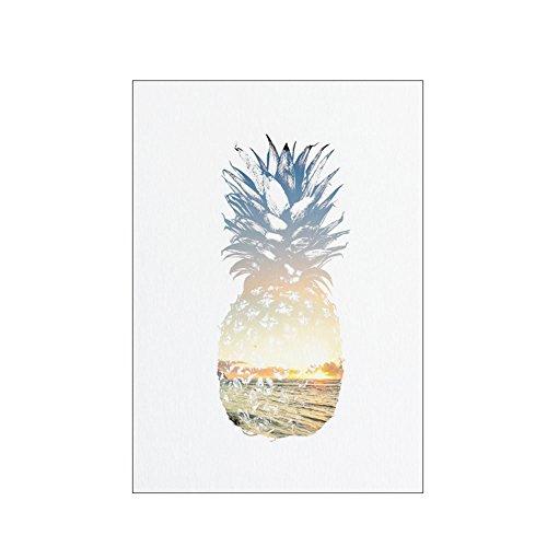 starlit Modern Wall Art Pineapple Living Room Bedroom Decor Tropical Unframed Painting Hotel Home - Minimalist Pineapple