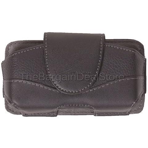 Motorola Droid Pro XT610 Leather Pouch Belt Clip Holster Side Case Cover OEM Verizon Black [Retail (Verizon Vortex Phone Case)