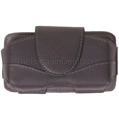 Motorola Droid Pro XT610 Leather Pouch Belt Clip Holster Side Case Cover OEM Verizon Black [Retail Packaging]
