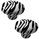 zebra dresser knobs - Set of 2 Zebra Animal Print CERAMIC Cabinet Drawer Pull Knobs