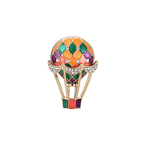 WLLAY Colorful Hydrogen Balloon Brooch Romantic Hot Air Ball Collar Pin Jewelry