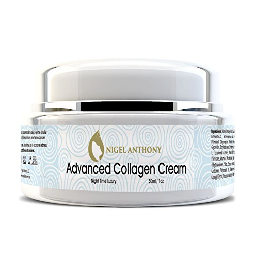 Nigel Anthony ADVANCED COLLAGEN CREAM – Natural Facial Skin Care for Tightening, Wrinkles, Fine Lines & Younger Skin. For Men & Women
