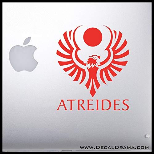 House of Atreides Red Hawk Crest SMALL Vinyl Car/Laptop Decal ()