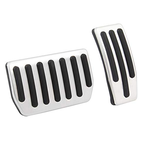 teel Foot Pedal Pads for Car Fuel Brake Non-Slip Auto Aluminum Pedal Covers for Tesla Model 3 ()
