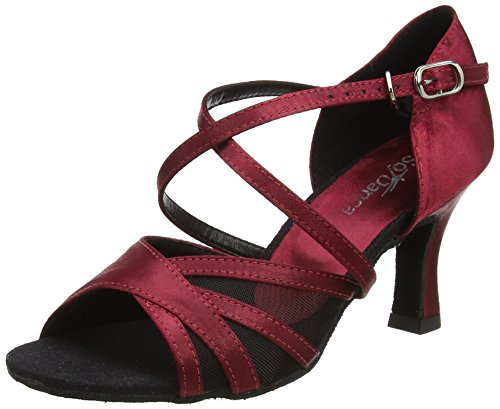 Society Dance Danca Latin Bl162 Così e Red Shoes bordeaux Woman aRSpxnnwg