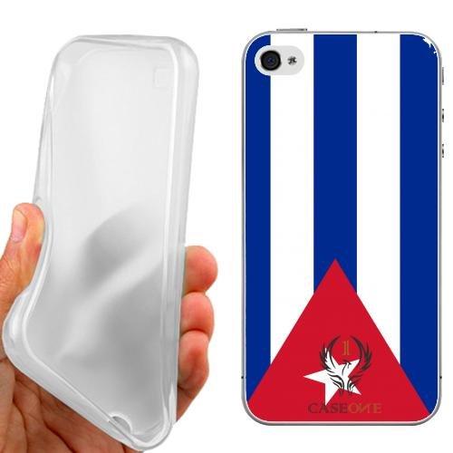 CUSTODIA COVER CASE BANDIERA PORTO RICO PER IPHONE 4 4G 4S