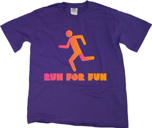 CROSS COUNTRY: RUN FOR FUN! Youth Unisex T-shirt / Cheesy Runner CC Running Tee