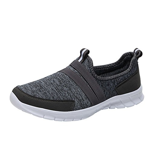 Women's Lightweight Walking Shoes Mesh Sneakers Leisure Sports Soft Shoes Breathable Slip-on Loafers Lazy Shoes Dark Gray (Leather Patent Sandals Guess)
