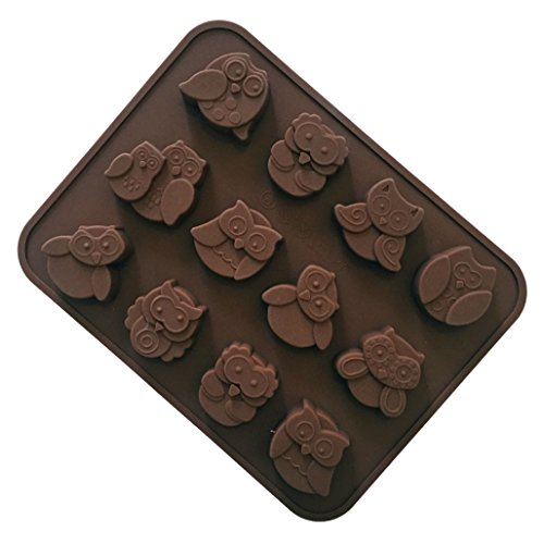 FantasyDay Halloween Owl Shaped Silicone Baking Molds Bakeware for Halloween Theme Chocolate, Muffin Cups, Ice Cube, Soap, Wafer, Cake, Bread, Tart, Pie, Flan, Pudding, Candy, Jello Shot and More #5